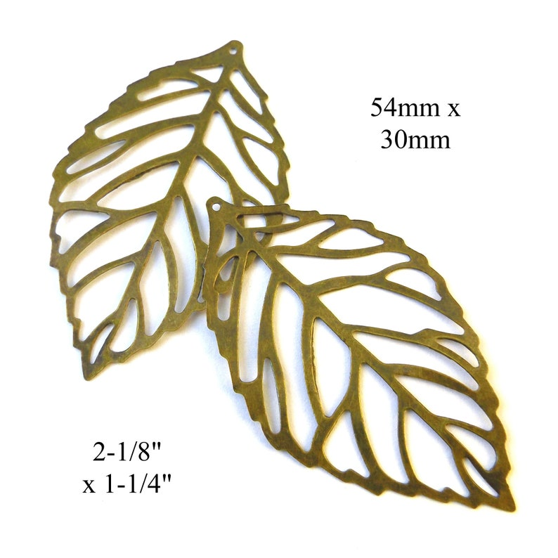 bronze leaf charms for earrings or pendants