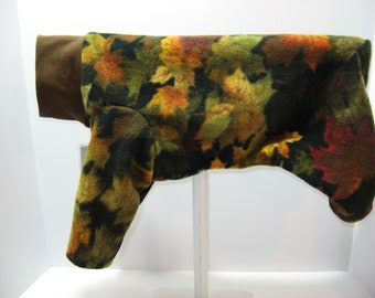 Woofy Wear by Wendy tm Fall Leaves Fleece Dog Jammies Style