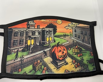 Halloween Town Double Sided Adult Face Mask/Gift/Face Covering/Gift For Her /Gift For Him/Gift For Them