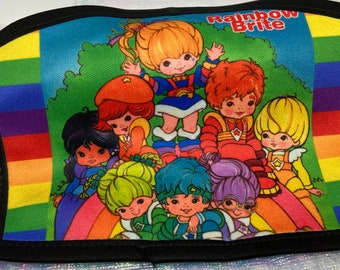 Rainbow Brite Double Sided Adult Size Medium Mask/ Personal Care/Gift/cartoon