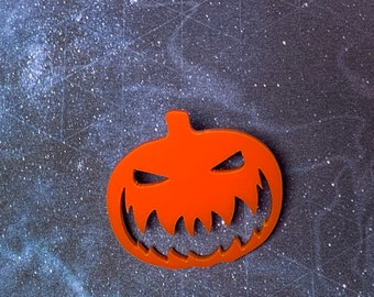 Halloween/Jack o lantern/ Acrylic/Pin/Jewelry/Gift for her/Gift for him