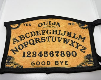 Adult Double Sided Ouija Board Face Mask/Game/Halloween/Spooky/Protection/Face Covering/Gift For Them