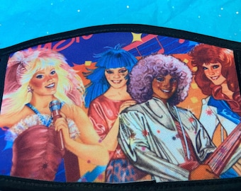 Adult Double Sided Jem and The Holograms and Misfits Face Mask/Protection/80s/Cartoon/Gift /