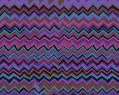 ZIG ZAG in PURPLE Brandon Mably Fabric Kaffe Fassett Collective Free Spirit Fabric Cotton Quilting Fabric By The Half Yard or By The Yard