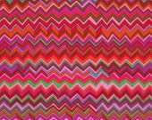 Kaffe Fassett Fabric Zig Zag in WARM RED Brandon Mably Fabric PWBM043 Cotton Quilting Fabric By Half Yard and more