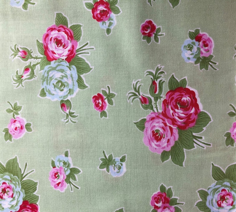 Tanya Whelan PWTW121 Zoey/'s Garden Butterfly Ticking Green Cotton Fabric By Yd