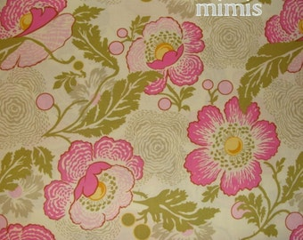3/4  Yard,,,,,Fresh Poppies in Fuschia / Amy Butler Fabric / Midwest Modern,,,Quilt Apparel Fabric