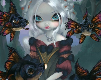 Jasmine Becket-Griffith art print SIGNED Lily fairy butterfly lotus flower nymph