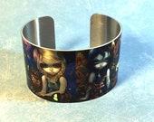 Seasons metal cuff bracel...
