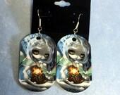Luna Moths Dogtag Earring...