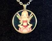 Lotus Fairy round metal n...