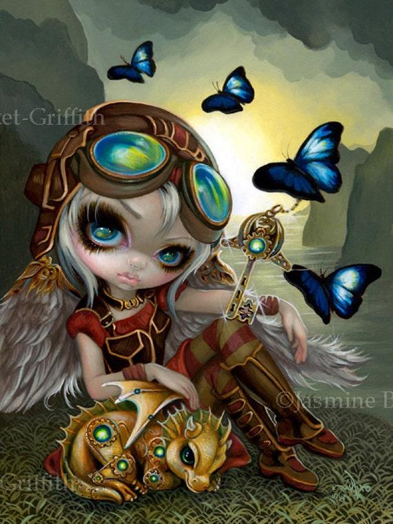 Absinthe Goggles Steampunk Fairy Jasmine Becket-Griffith CANVAS PRINT gothic art