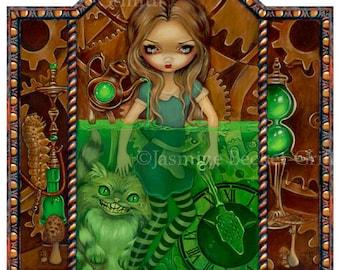 Alice in Absinthe wonderland wormwood fairy art print by Jasmine Becket-Griffith 7.7x10.3