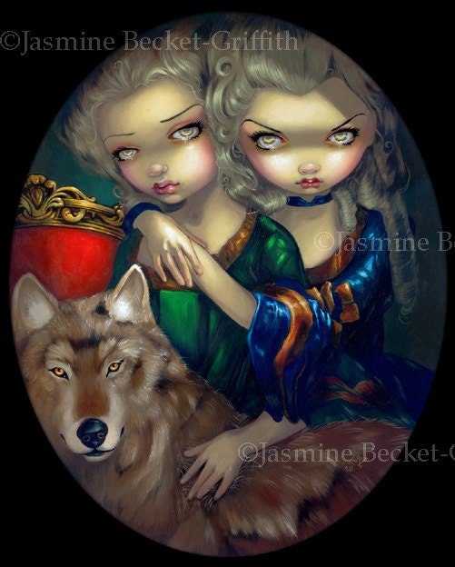 Les Vampires Les Cranes by Jasmine Becket-Griffith Art Print Gothic Skull Poster