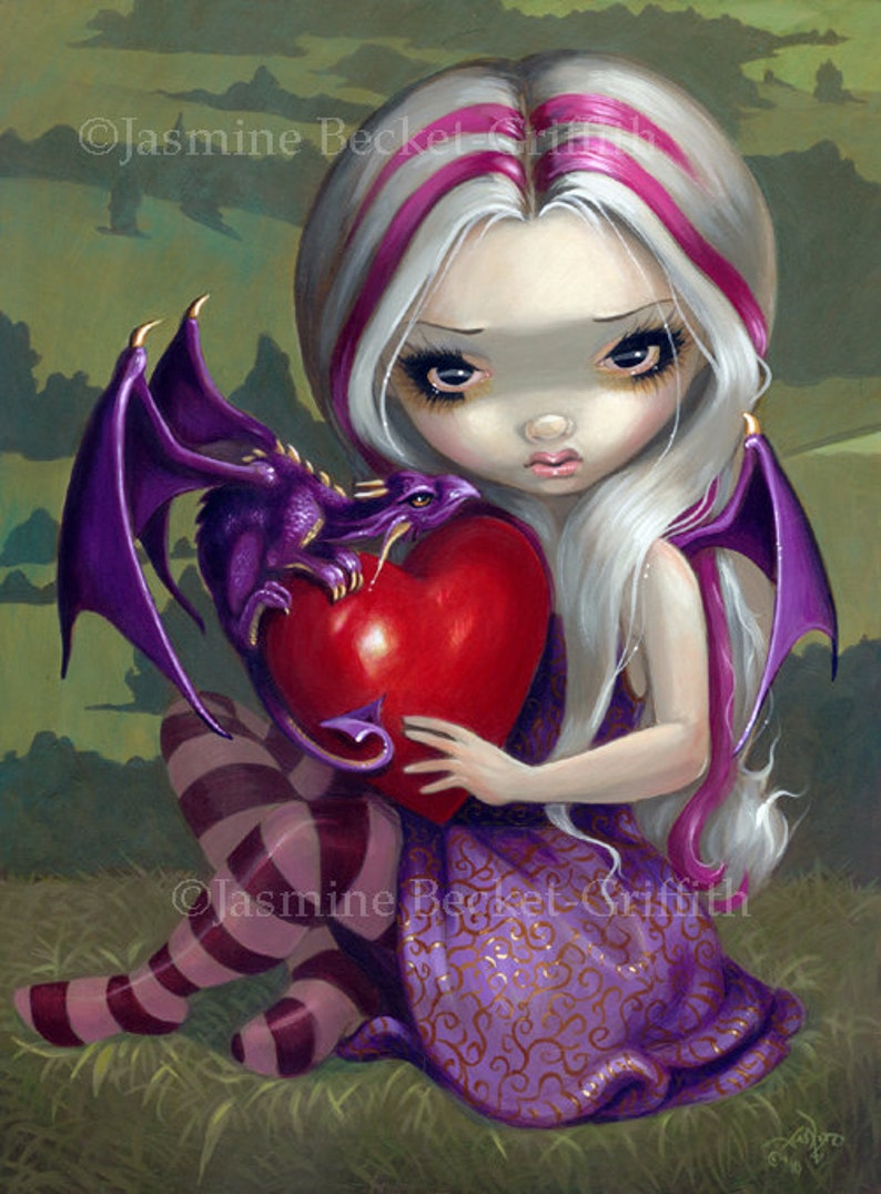 Jasmine Becket-Griffith art BIG print SIGNED Strangely Lonely celtic cross fairy