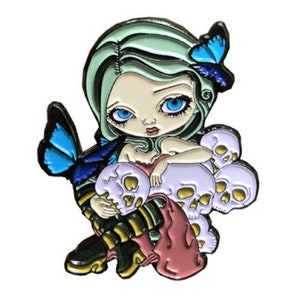 Elephant Friend Collectible Enamel Pin by Jasmine Becket-Griffith Art