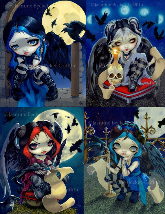 ART PRINT Alchemical Angel IV by Jasmine Becket-Griffith 14x11 Gothic Poster