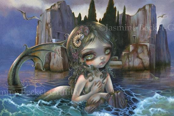 Trilobites big eye lowbrow art Jasmine Becket-Griffith CANVAS PRINT pop surreal