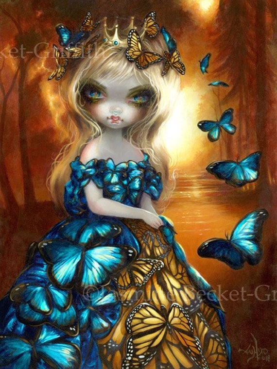 Monarch Art Print By Jasmine Becket Griffith 8x10 Queen Of Etsy