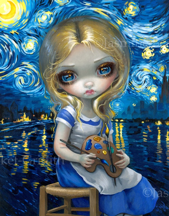 Amber Dragonling Jasmine Becket-Griffith CANVAS PRINT dragon fairy big eyed art