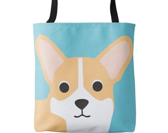 Corgi Dog Tote Bag