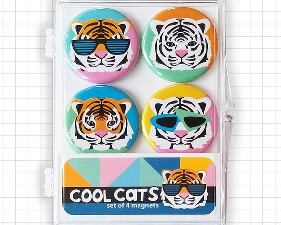 Cool Cats Tiger Magnet Set