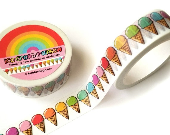Ice Cream Rainbow Decorative Washi Tape Roll