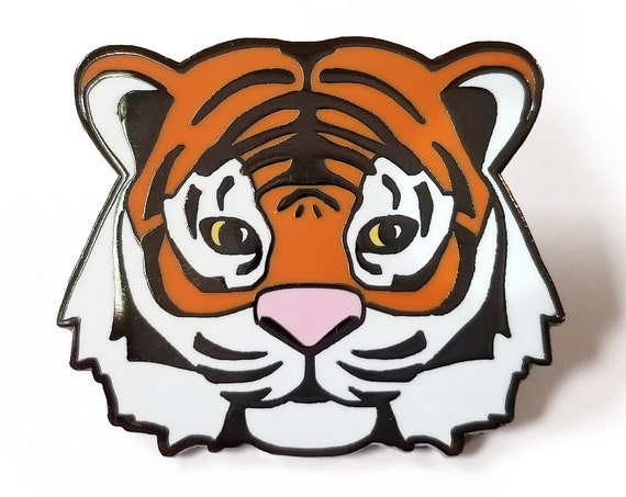 Tiger Hard Enamel Lapel Art Pin