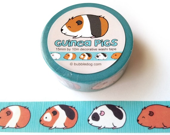 Guinea Pigs Decorative Washi Tape Roll