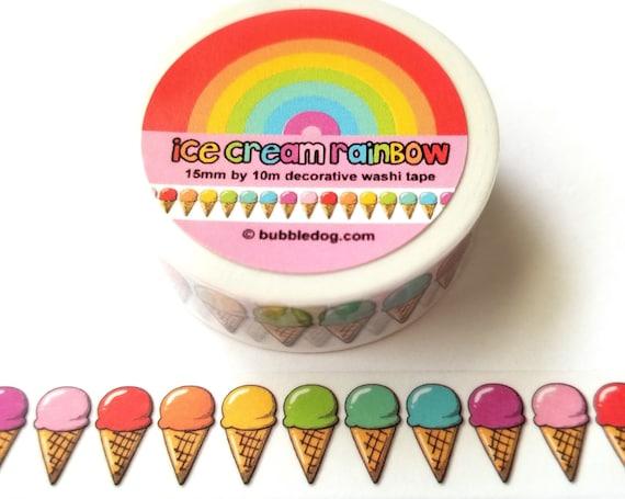 Ice Cream Rainbow Decorative Washi Tape Roll