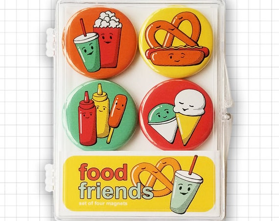 Food Friends Magnet Set