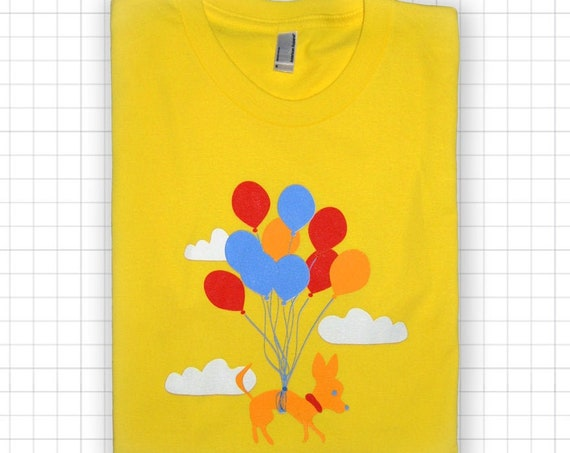 Chihuahua Balloons YOUTH American Apparel T-shirt - Size 10 Medium Only