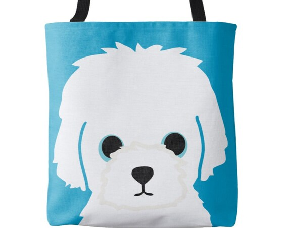 Little White Dog Tote Bag - Maltese, Bichon Frise