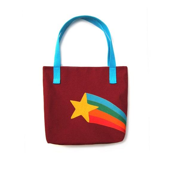 Retro Starburst Rainbow Tote Bag Purse