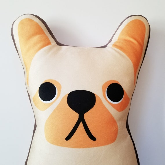 Large French Bulldog Plush Velvet Pillow