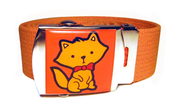 Bowtie Kitten Canvas Belt
