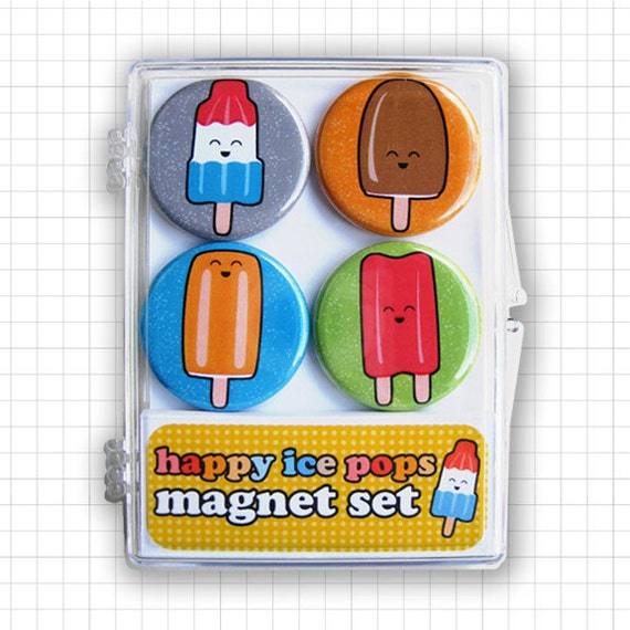 Happy Ice Pops Magnet Set