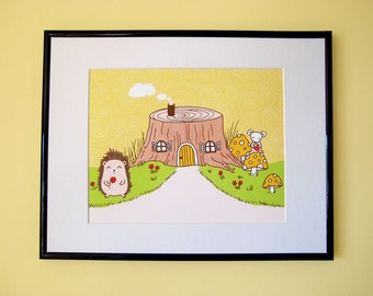 Tree Stump House Giclee Print