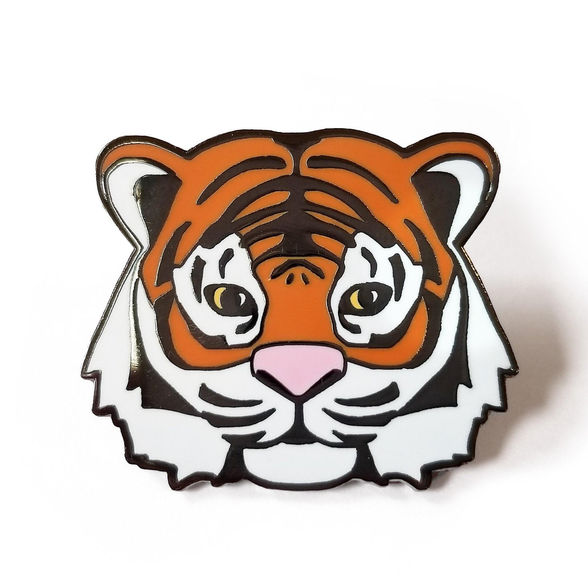 Hap-E-Co Tiger Enamel Pin