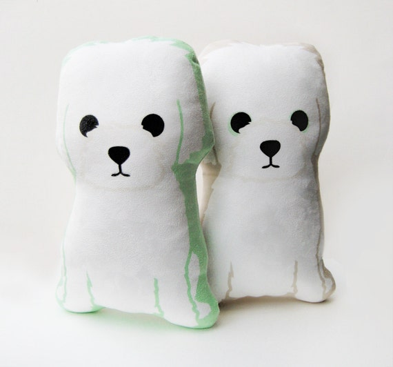 Little White Dog Plush Pillow