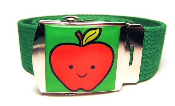 Happy Apple Canvas Belt
