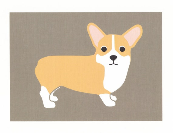 Corgi Graphic Dog Print