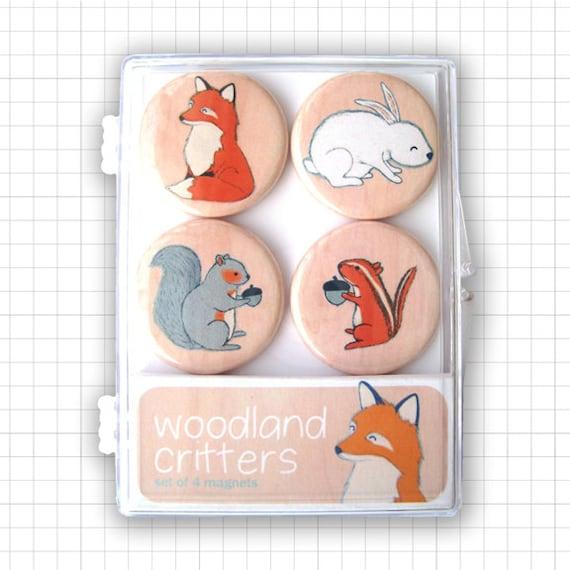Woodland Critters Magnet Set