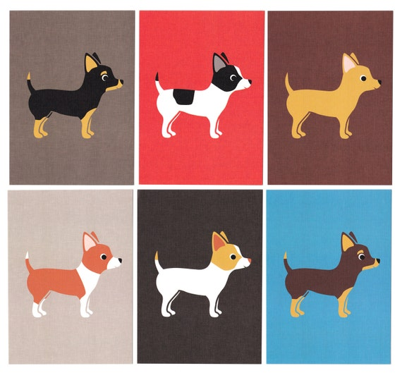 Chihuahua Graphic Dog Print