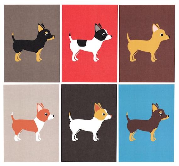 Chihuahua Graphic Dog Print