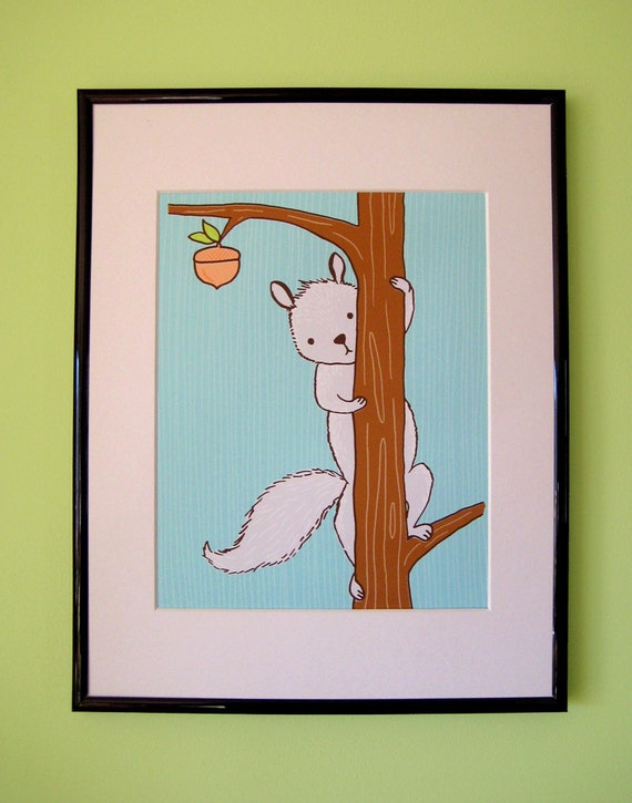Peek-A-Boo Squirrel Giclee Print