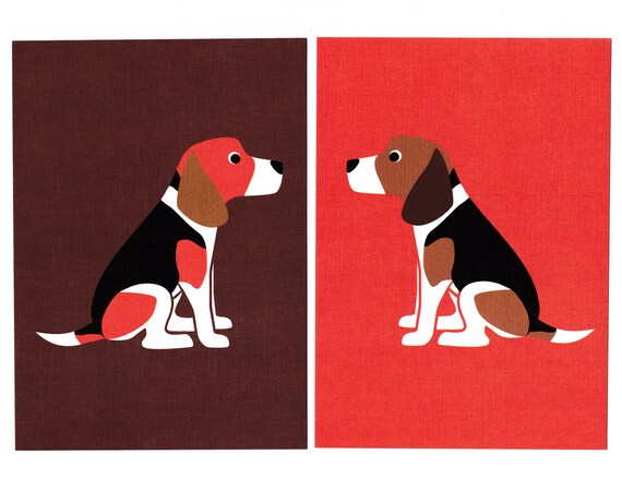 Beagle Graphic Dog Print