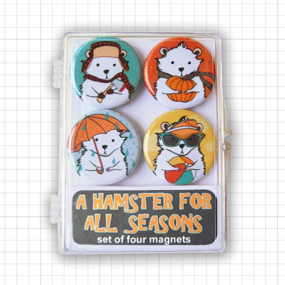 A Hamster For All Seasons Magnet Set