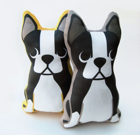 Boston Terrier Plush Pillow