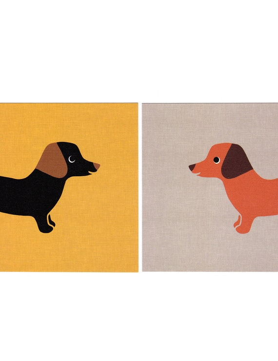 Dachshund Graphic Dog Print